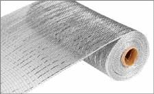 """Geomesh Roll 10"""" x 10yd- Silver w/ Silver Foil"""