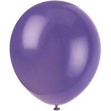 "12"" Balloons, 10ct- Amethyst"