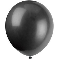 "12"" Balloons, 10ct- Jet Black"