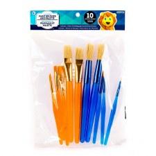 Paint Brushes & Palette Set, 10ct
