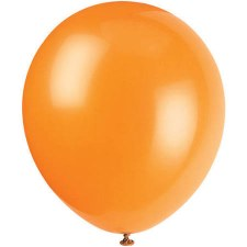 "12"" Balloons, 10ct- Pumpkin Orange"