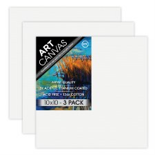 "10""x10"" Artist Stretched Canvas - Triple Pack"