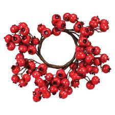 """11"""" Crabapple Berry Candle Ring"""