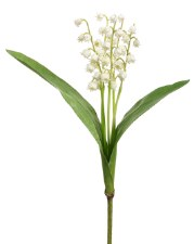 "Lily of the Valley, 12.5""- Cream"