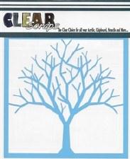 Clear Scraps 12x12 Stencil- Bare Tree