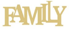 """Family Block Letter MDF Cut Out- 12"""""""
