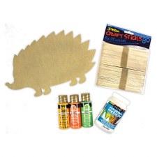 "Paint Pouring Kit, 12""- Hedgehog"