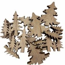 Wood Trees Fillers/Embellishments, 12ct