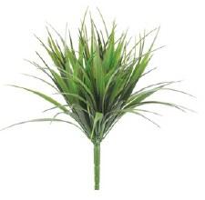 "Grass Bush, 12""- Vanilla Grass, Green/Red"