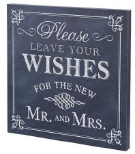 Wedding Canvas Sign- Wishes