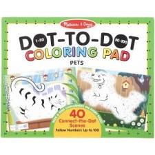 Dot to Dot 123 Coloring Pad- Pets
