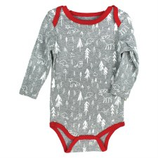 Hot Cocoa Long Sleeve Sleeper, Woodland- 12M