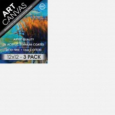 "12""x12"" Artist Stretched Canvas - Triple Pack"