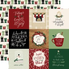 A Cozy Christmas 12x12 Paper- 4x4 Cards