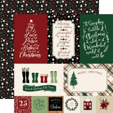 A Cozy Christmas 12x12 Paper- Journaling Cards