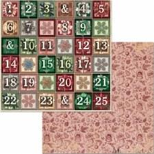 Christmas Treasures 12x12 Paper- Advent