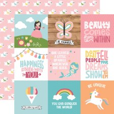 All Girl 12x12 Paper- 4x4 Cards