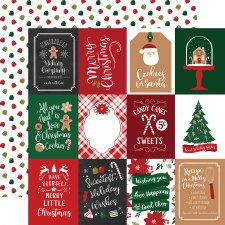A Gingerbread Christmas 12x12 Paper- 3x4 Cards