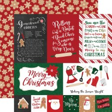 A Gingerbread Christmas 12x12 Paper- 4x6 Cards