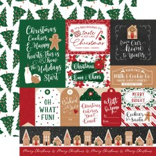 A Gingerbread Christmas 12x12 Paper- Multi Cards
