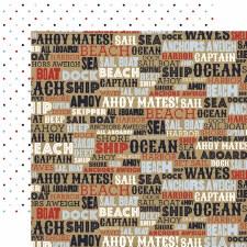 Deep Blue Sea 12x12 Paper- Ahoy Mates