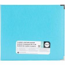 We R Memory Keepers 12x12 Classic Leather 3-Ring Binder- Aqua