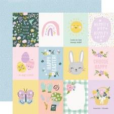 Bunnies + Blooms 12x12 Paper- 3x4 Elements