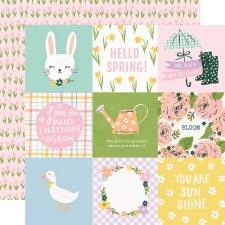 Bunnies + Blooms 12x12 Paper- 4x4 Elements