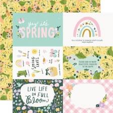 Bunnies + Blooms 12x12 Paper- 4x6 Elements