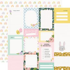 Bunnies + Blooms 12x12 Paper- Journal Elements