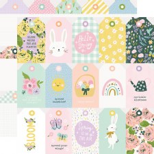 Bunnies + Blooms 12x12 Paper- Tags