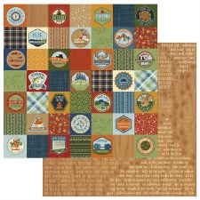 Campfire 12x12 Paper- Badges