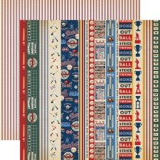 Baseball 12x12 Paper- Border Strips