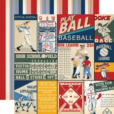 Baseball 12x12 Paper- Multi Cards