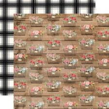 Farmhouse Market 12x12 Paper- Baskets
