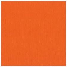 12x12 Orange Textured Cardstock- Bazzill Orange
