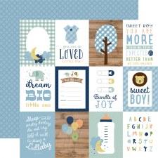 Baby Boy 12x12 Paper- 3x4 Cards