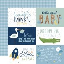 Baby Boy 12x12 Paper- 6x4 Cards