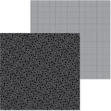 Petite Print Floral & Graph 12x12 Paper-  Beetle Black