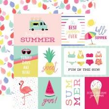 Best Summer Ever 12x12 Paper- Journaling Cards