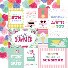 Best Summer Ever 12x12 Paper- Multi Cards