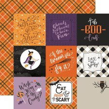 Bewitched 12x12 Paper- 4x4 Cards
