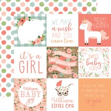 Baby Girl 12x12 Paper- 4x4 Cards