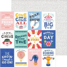 Big Top Dreams 12x12 Paper- Big Top Quotes