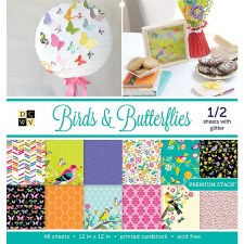 12x12 DCWV Paper Stack- Birds & Butterflies