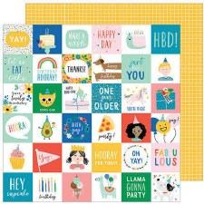 Cake Day 12x12 Paper- Birth Yay