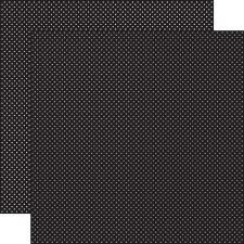 Dots 12x12 Paper- Black