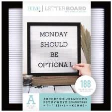 DCWV Framed Letterboard 12x12- Black w/ White Insert