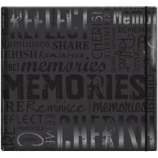 MBI 12x12 Postbound Scrapbook- Memories Black