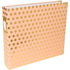 Project Life 12x12 D-Ring Album- Blush with Gold Dots